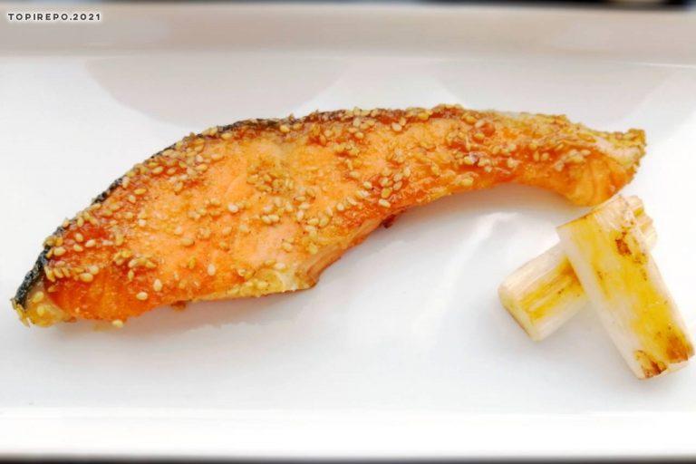 鮭のごま照り焼き