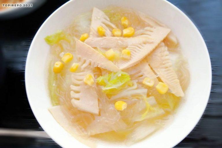 筍と春雨スープ